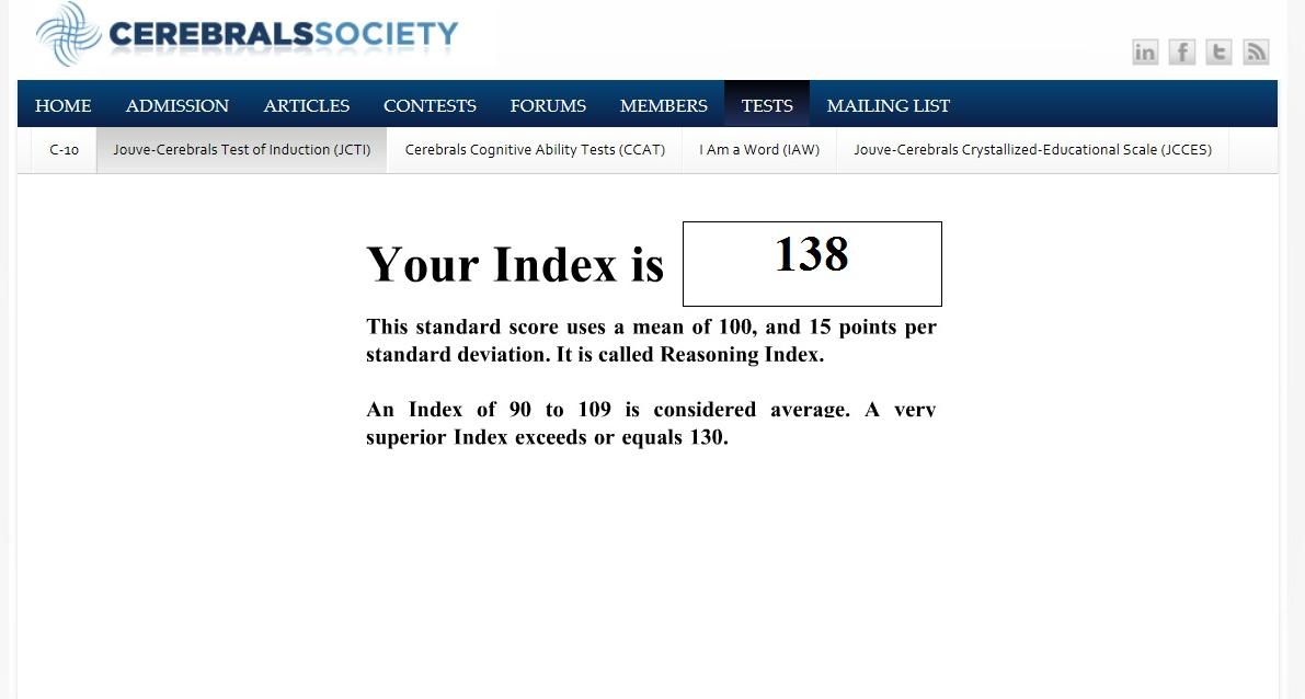 S Tucker IQ test2